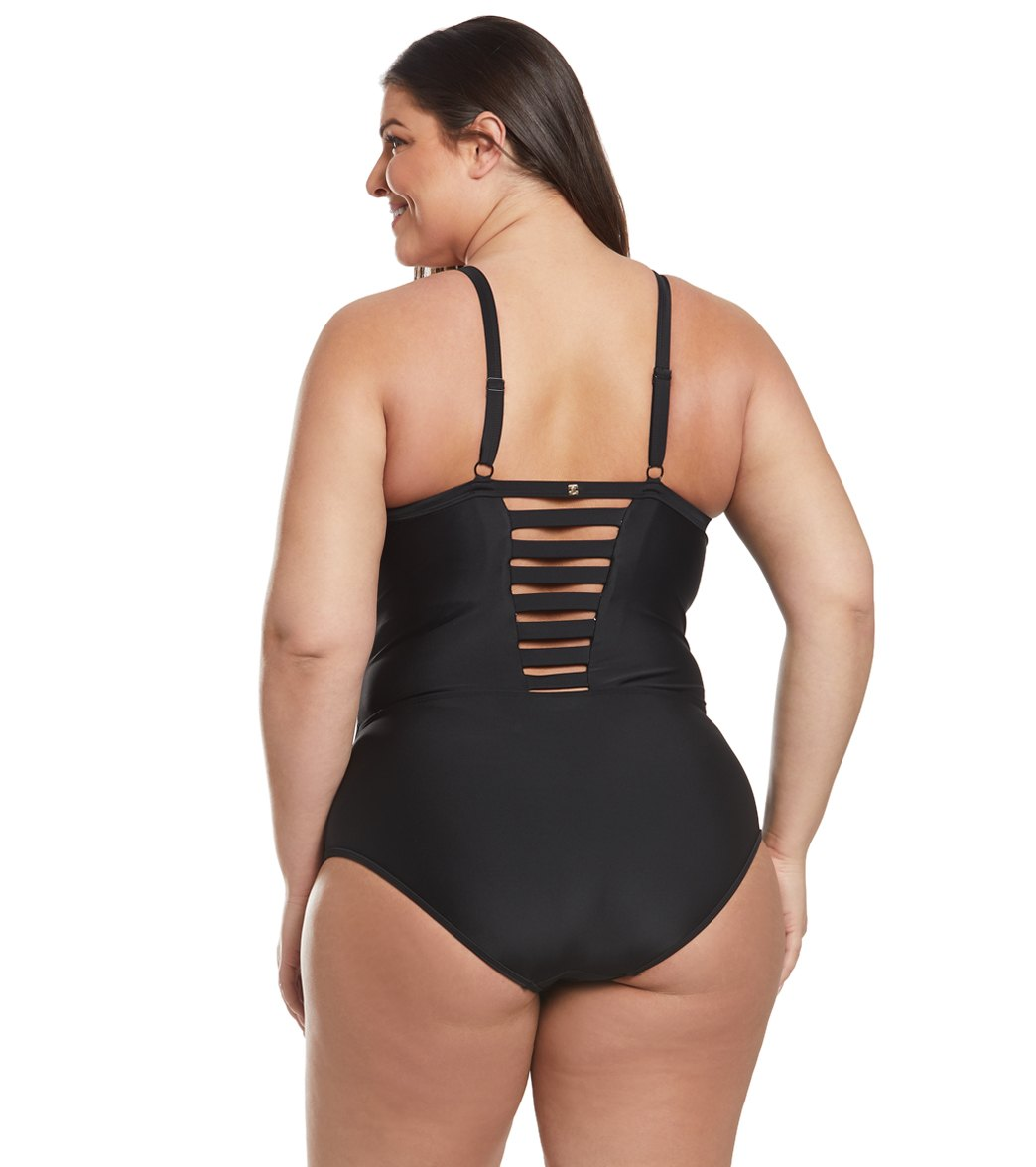 08c8f1823a054 Skye Plus Size Solid Surface One Piece Swimsuit at SwimOutlet.com ...