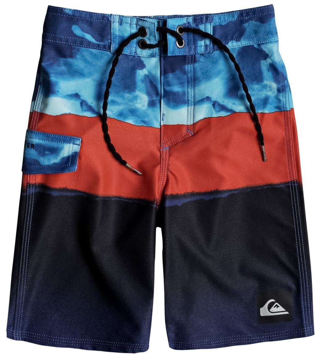 Quiksilver Boys Blocked Resin Camo Kids Swim Trunks