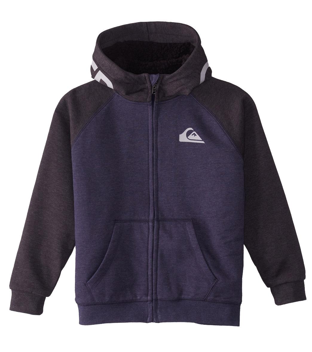 ce6efb4e1 Quiksilver Boys  Juwa Sherpa Zip hoodie (Big Kid) at SwimOutlet.com ...