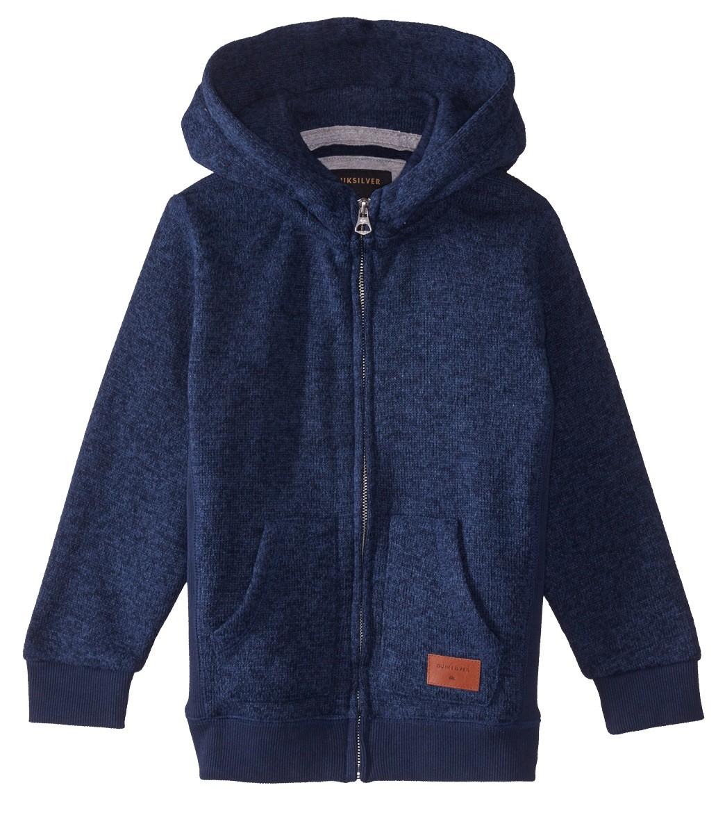 9d6dd8c2e9 Quiksilver Boys' Keller Brushed Fleece Zip Hoodie (Little Kid)