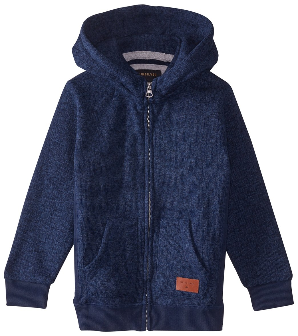 brand new 9fed5 32a83 Quiksilver Boys  Keller Brushed Fleece Zip Hoodie (Big Kid) at  SwimOutlet.com - Free Shipping