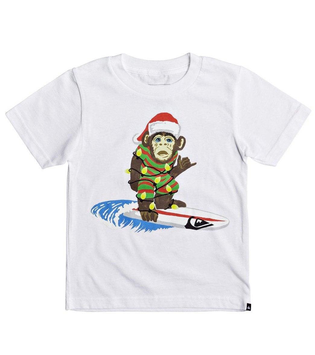 ee979ef716 Quiksilver Boys' Santa Surf Monkey Tee Shirt (Little Kid)