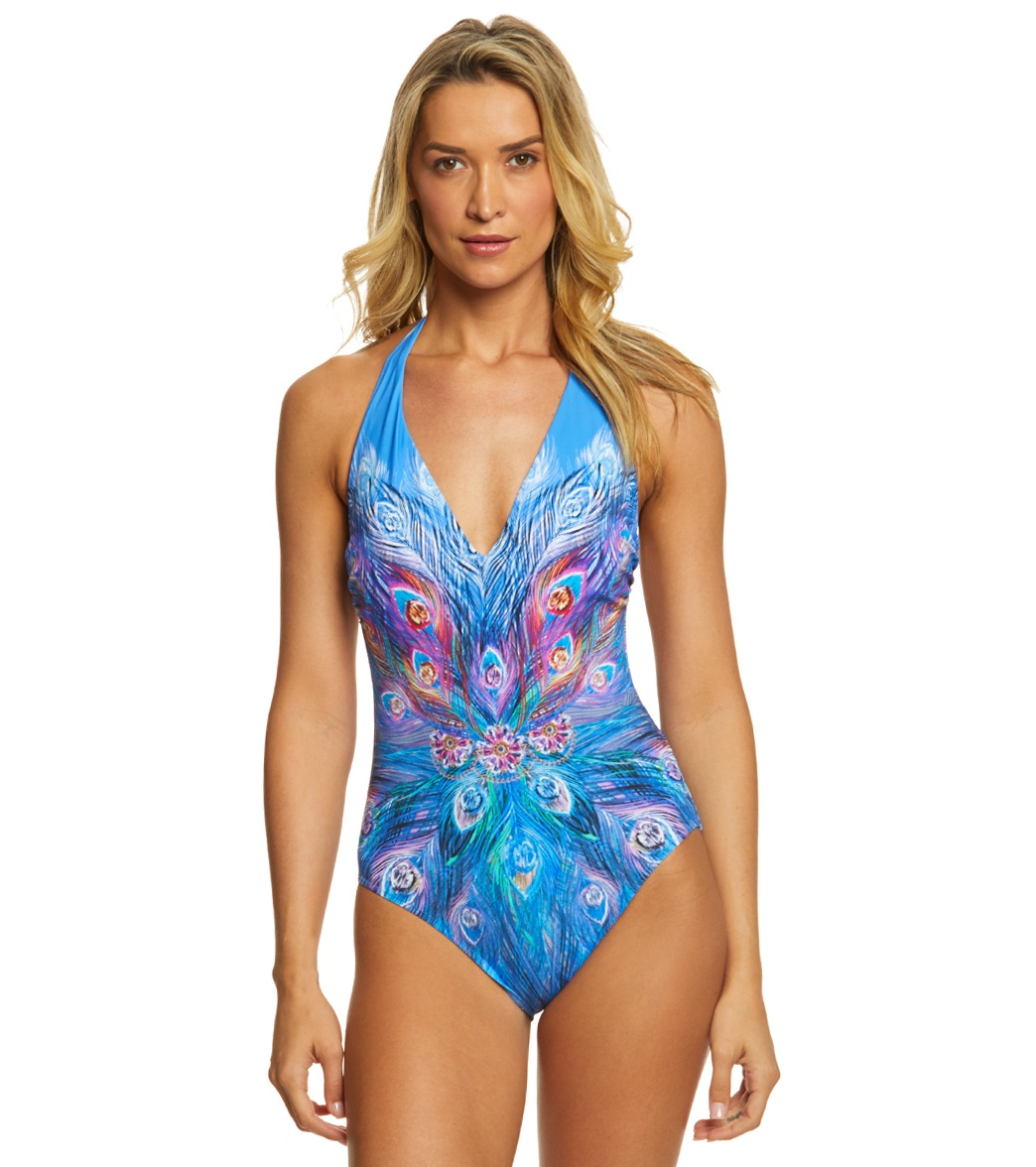 9e84af7178add3 Gottex Dream Catcher Halter One Piece Swimsuit at SwimOutlet.com - Free  Shipping