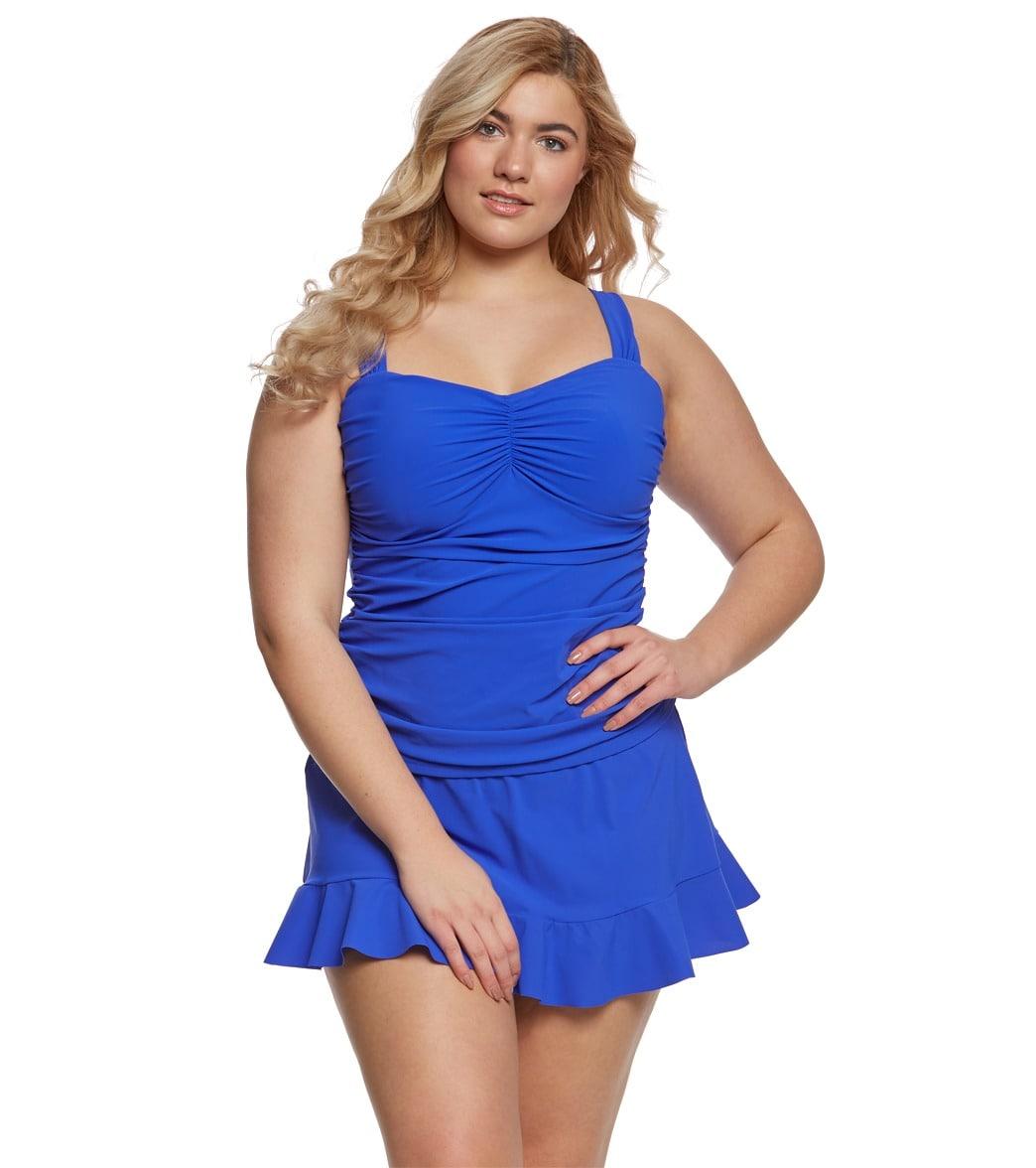 9836dbaf22990 Profile by Gottex Plus Size Tutti Frutti Underwire Sweetheart Tankini Top