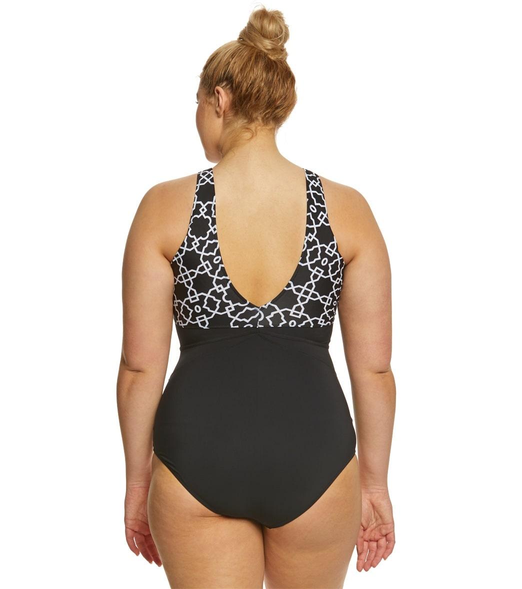 50d111d10b10a Profile by Gottex Plus Size Casablanca High Neck One Piece Swimsuit ...