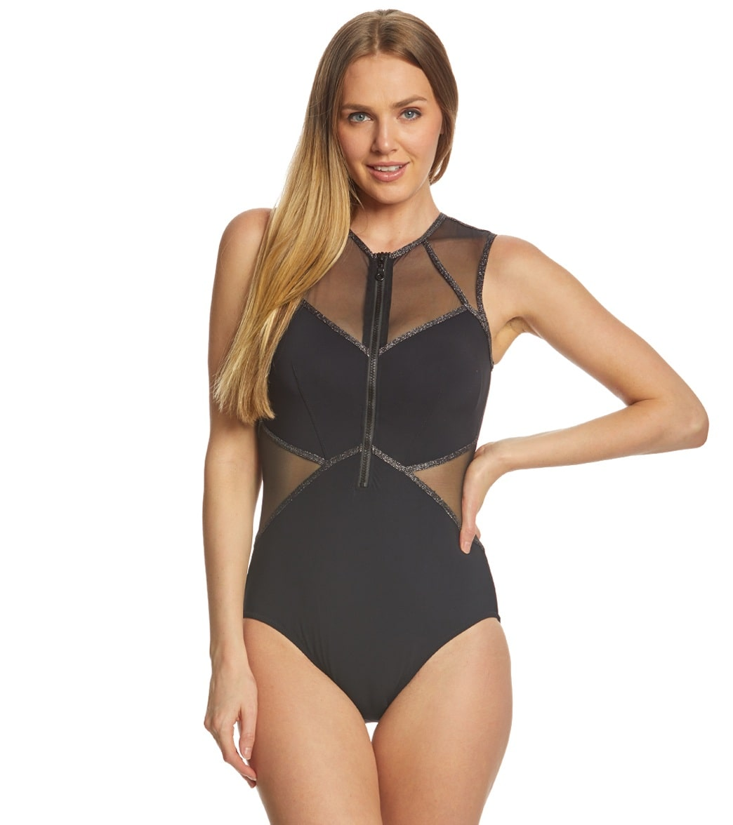 a10c03f903 Profile by Gottex Stargazer High Neck One Piece Swimsuit at SwimOutlet.com  - Free Shipping