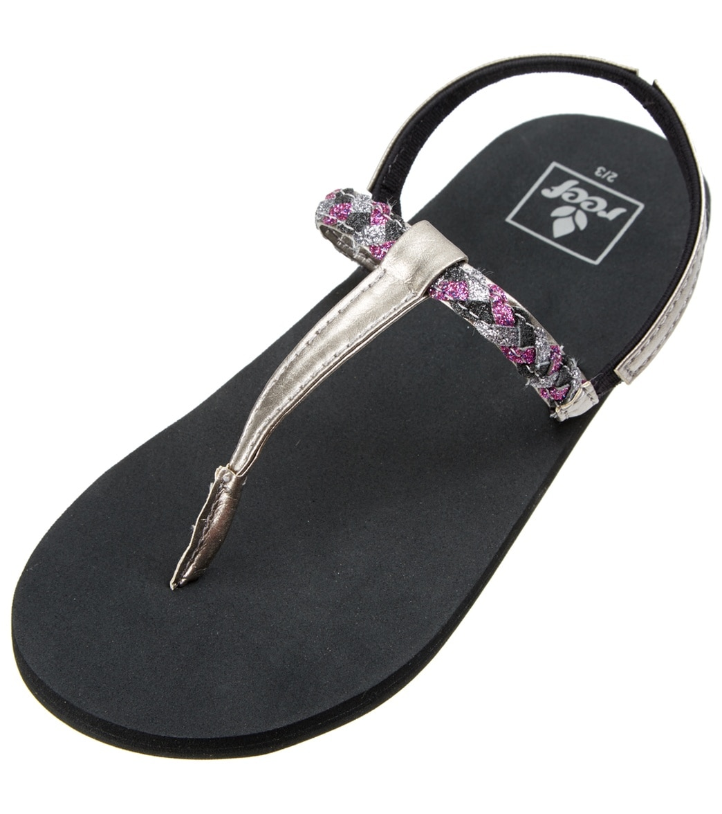 fa751dc33cc4 Reef Girls  Little Twisted T Strap Sandal (Toddler