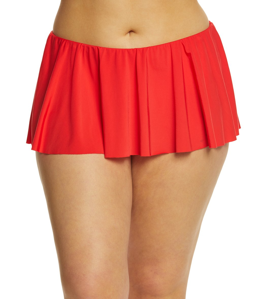 Kenneth Cole Reaction Plus Size Solid Flounce Swim Skirt at SwimOutlet.com  - Free Shipping b03e30897046