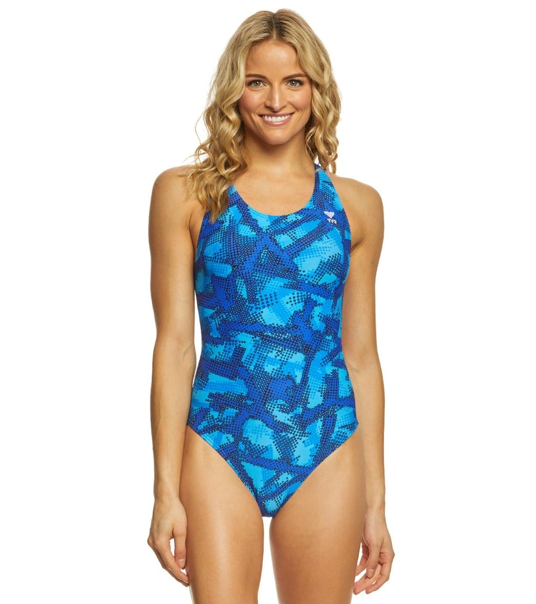 03a8cc86f9221 TYR Women s Vesuvius Maxfit One Piece Swimsuit at SwimOutlet.com - Free  Shipping