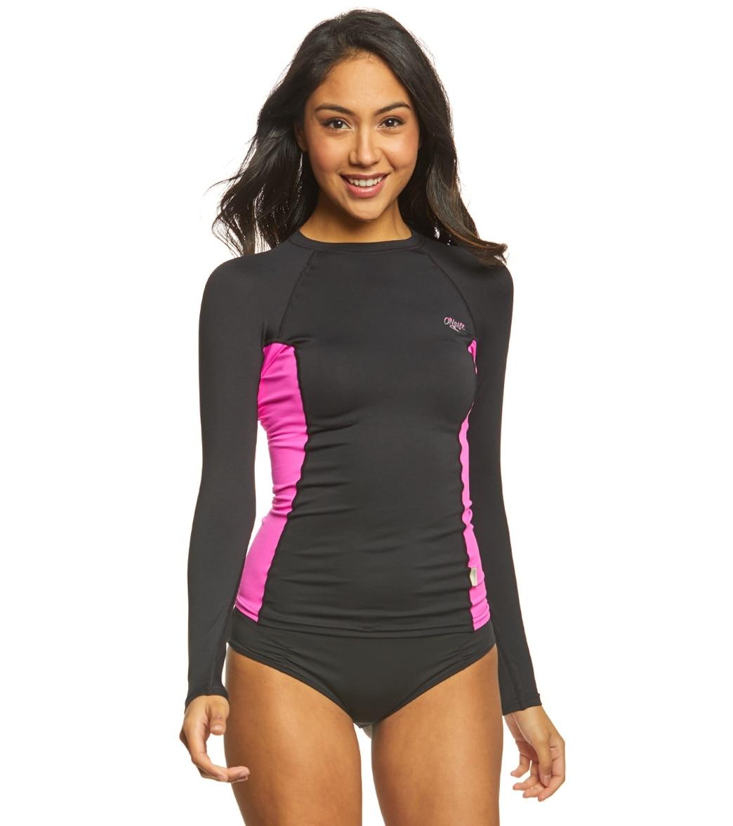6de10aee4f O Neill Women s Premium Long Sleeve Crew Rashguard at SwimOutlet.com