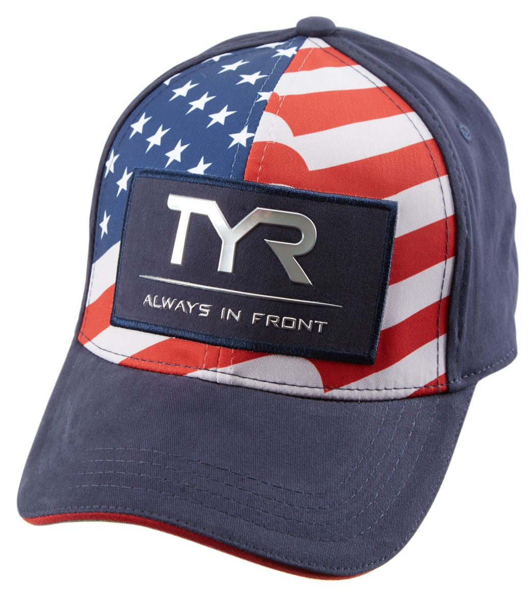 e8ff7a692c427d TYR Always in Front Glory Fitted Hat at SwimOutlet.com