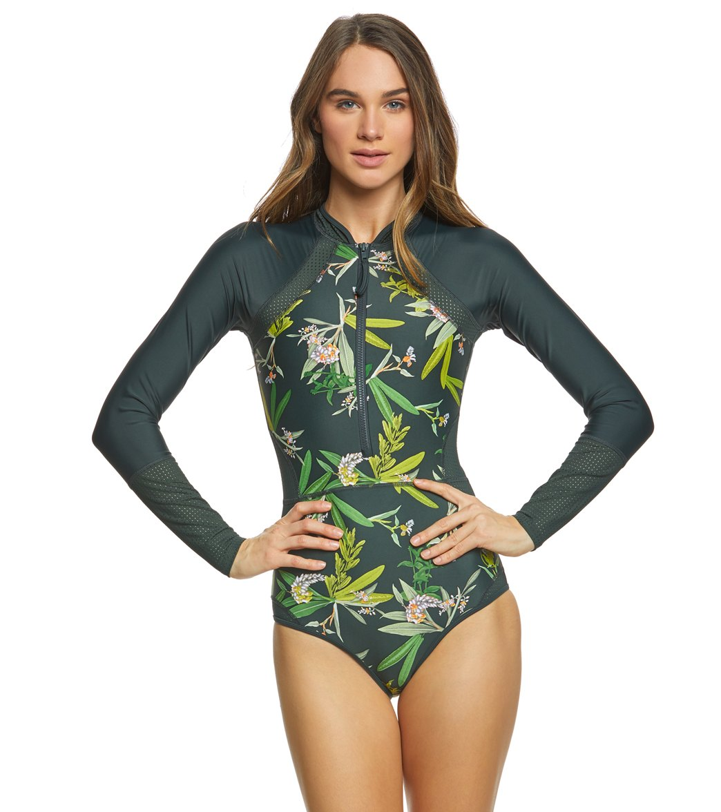 584325c2c00 ... Body Glove Active Guava Paradise Long Sleeve Paddle Suit. Play Video.  MODEL MEASUREMENTS