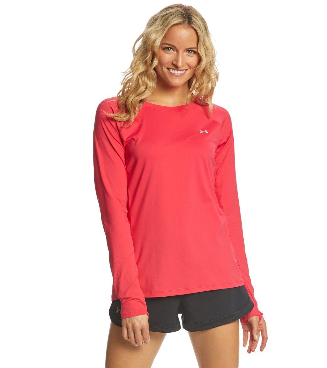 599988688b Under Armour Women's UA Sunblock Long Sleeve Shirt at SwimOutlet.com - Free  Shipping