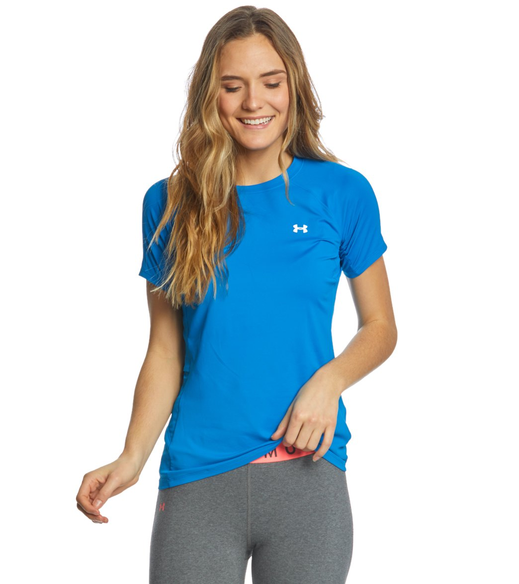 Under Armour Womens Ua Sunblock Short Sleeve Shirt At Swimoutlet
