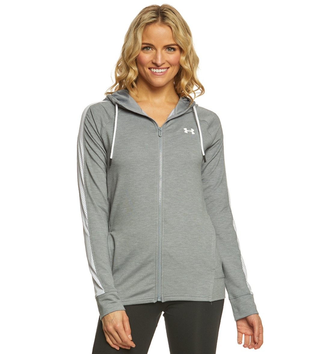 Under Armour Women s Featherweight Fleece Full Zip at SwimOutlet.com - Free  Shipping 99a7d6841f