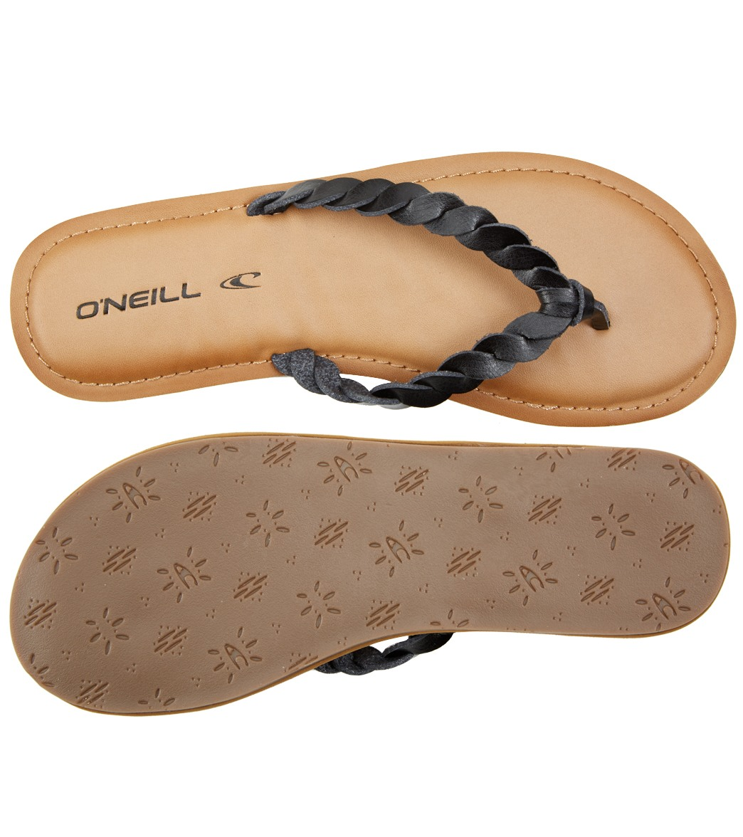 1211d6beb O Neill Women s Lucille Braided Leather Flip Flop at SwimOutlet.com