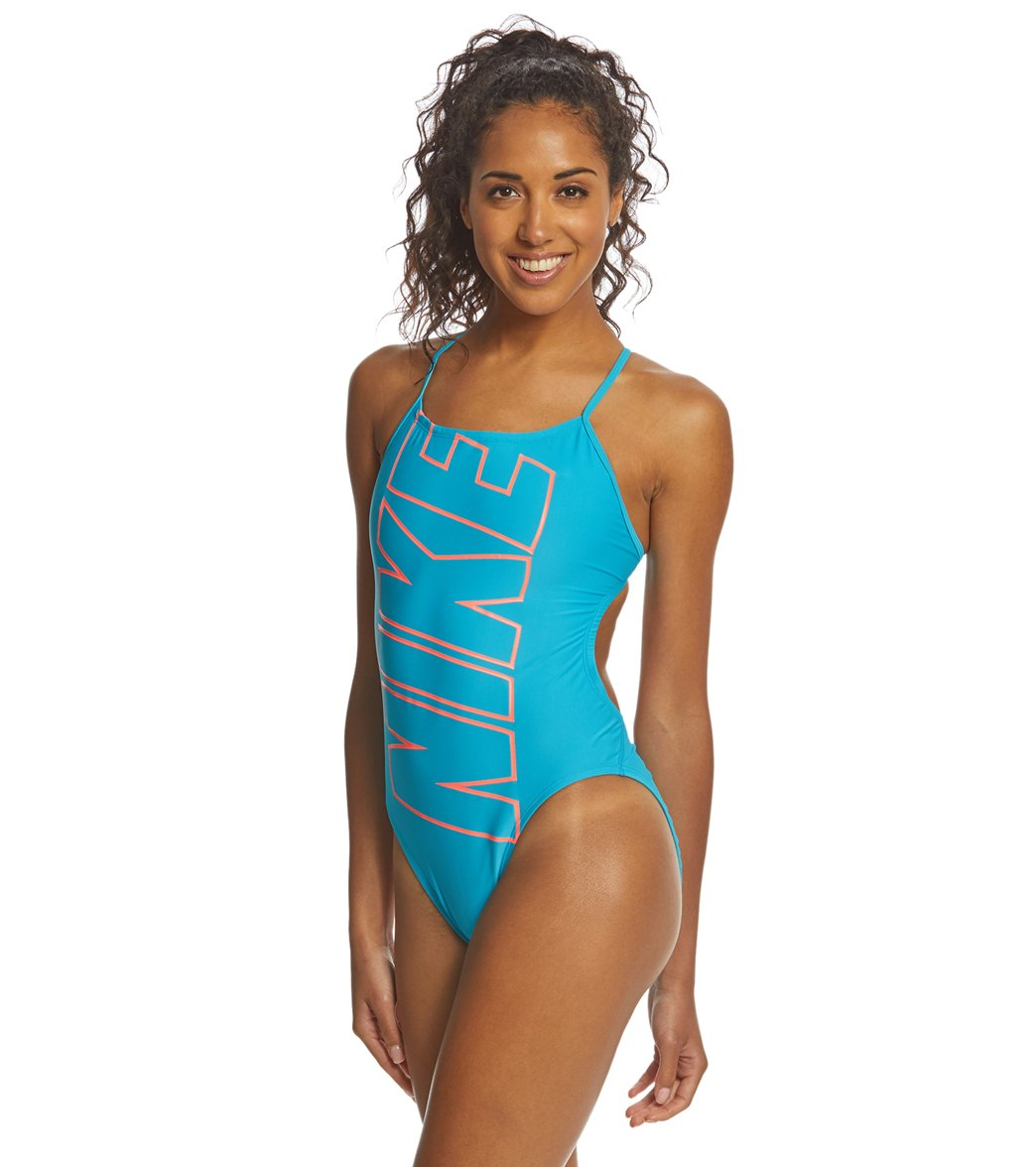 b8eba5e7c93 Nike Women's Nike Logo Cut Out One Piece Swimsuit