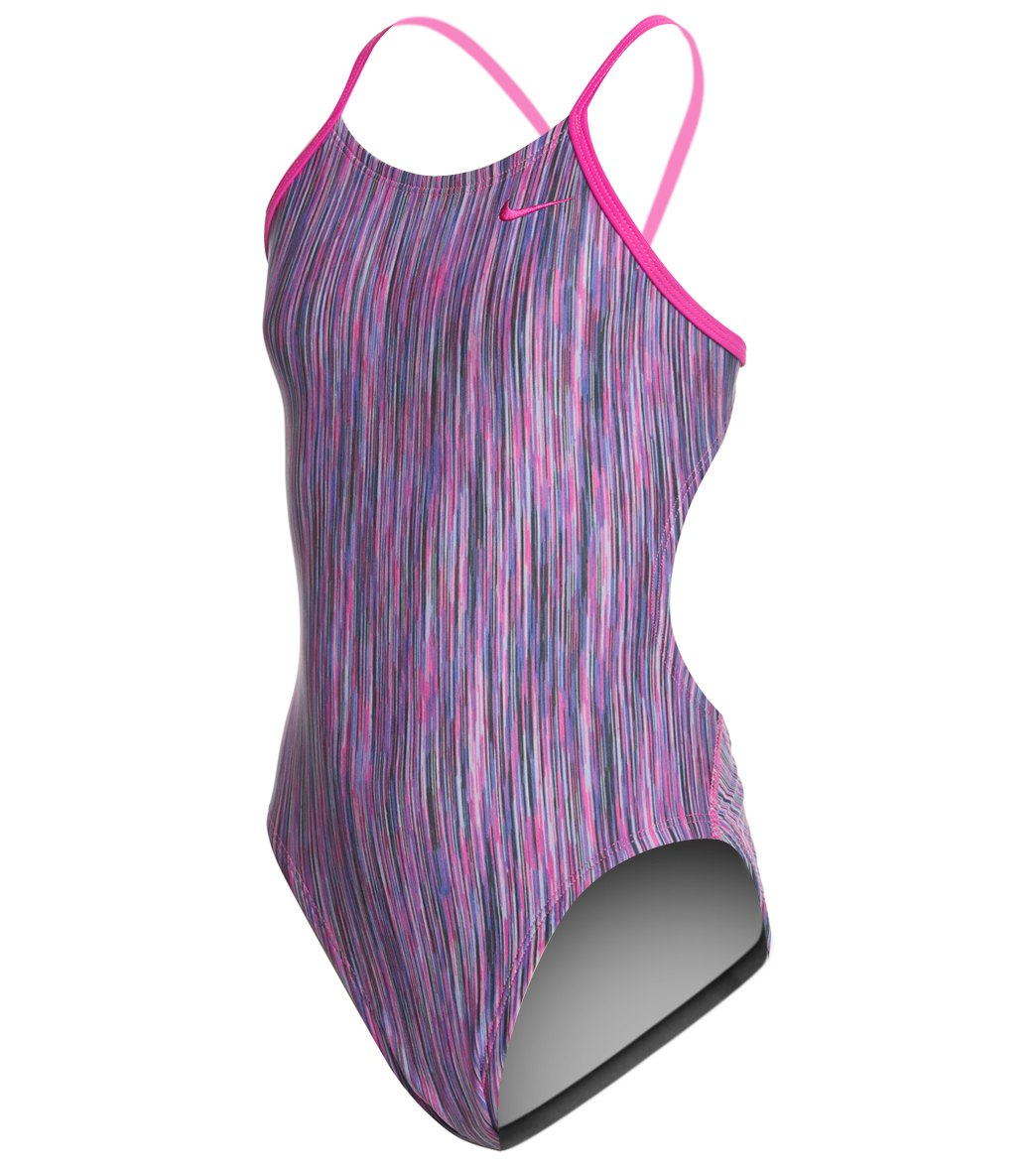 cc7aafa79ab Nike Girls  Rush Heather Cut Out One Piece Swimsuit at SwimOutlet ...