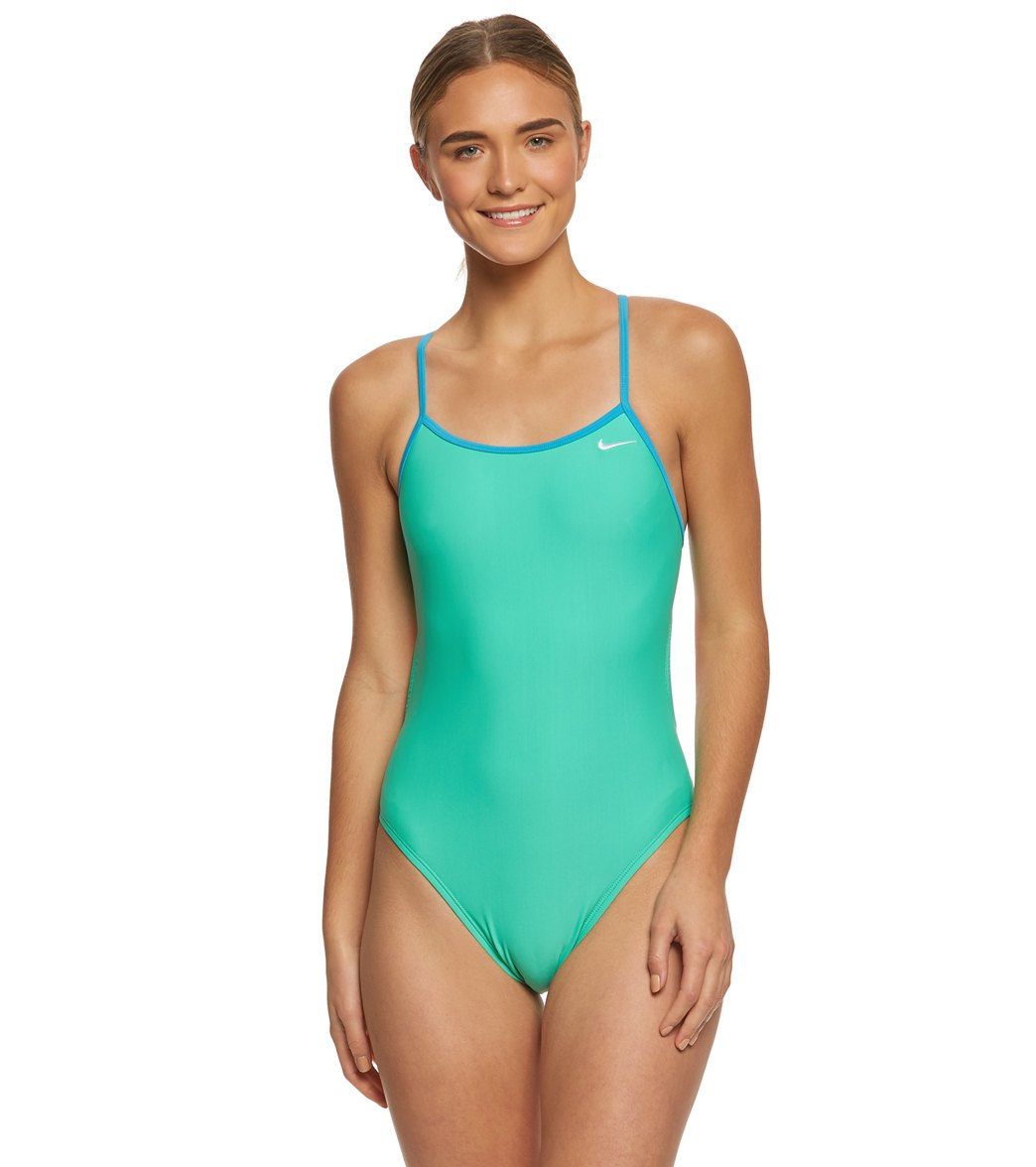c9ad14e9a4e76 Nike Women's Solid Crossback One Piece Swimsuit at SwimOutlet.com - Free  Shipping