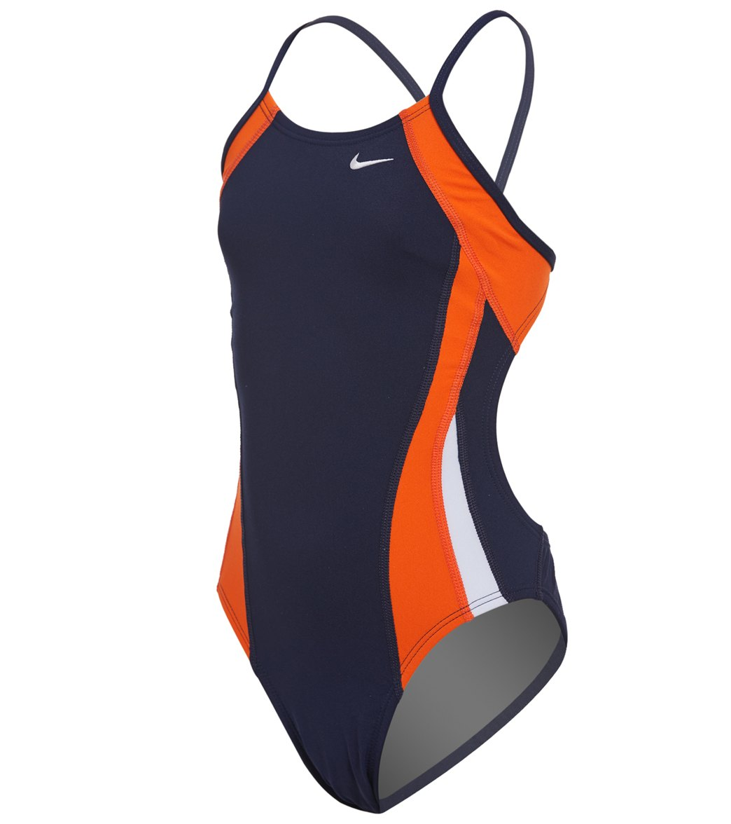 b0318a4f3a0 Nike Girls  Poly Color Surge Cut Out One Piece Swimsuit at SwimOutlet.com -  Free Shipping