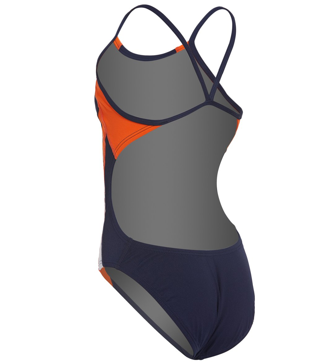 3f11cd17bb4 Nike Girls  Poly Color Surge Cut Out One Piece Swimsuit at ...