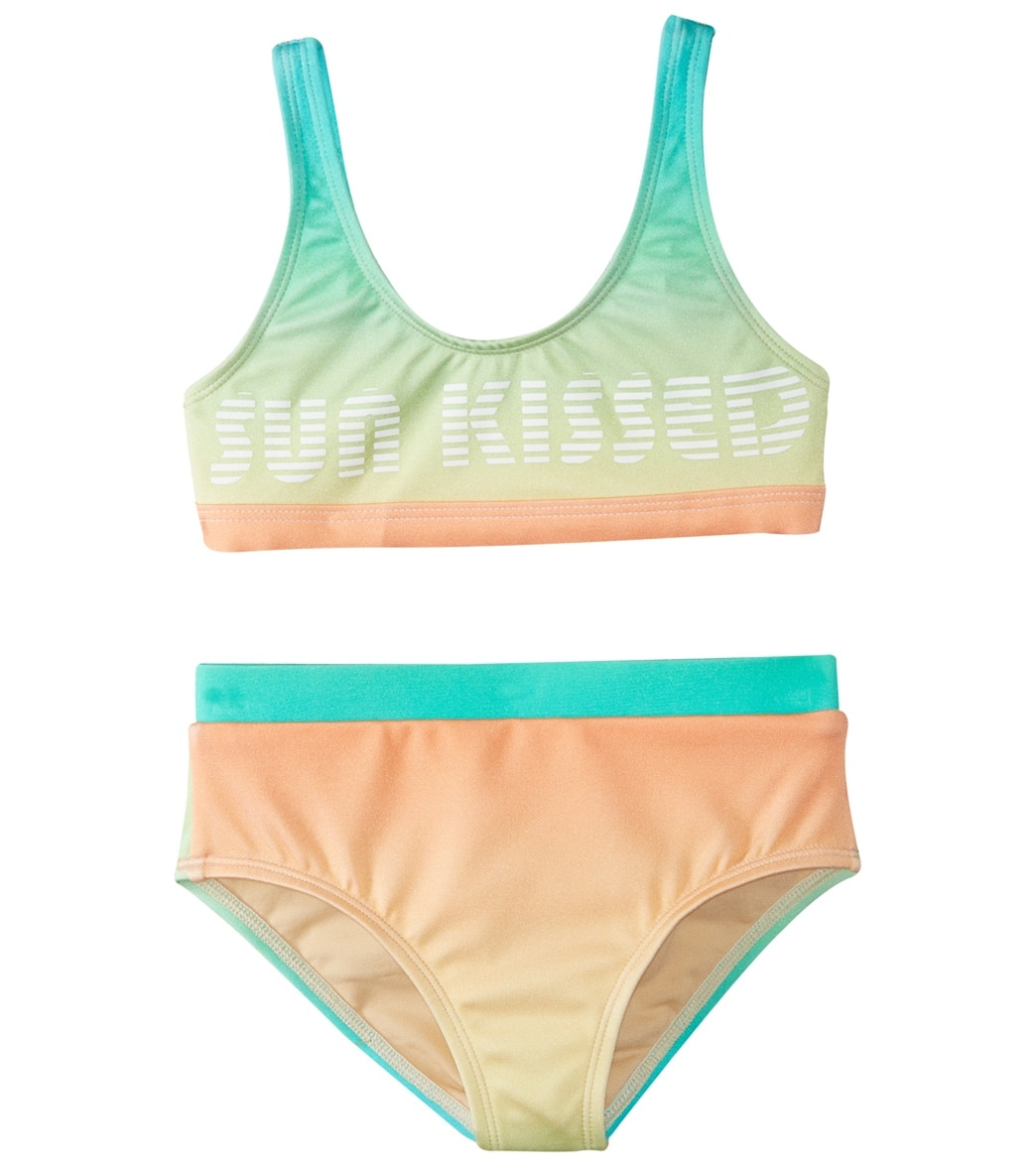 9861ebe03b Reef Girls' Teen Spirit Sport Halter & High Waisted Two Piece Bikini Set  (Big Kid) at SwimOutlet.com - Free Shipping