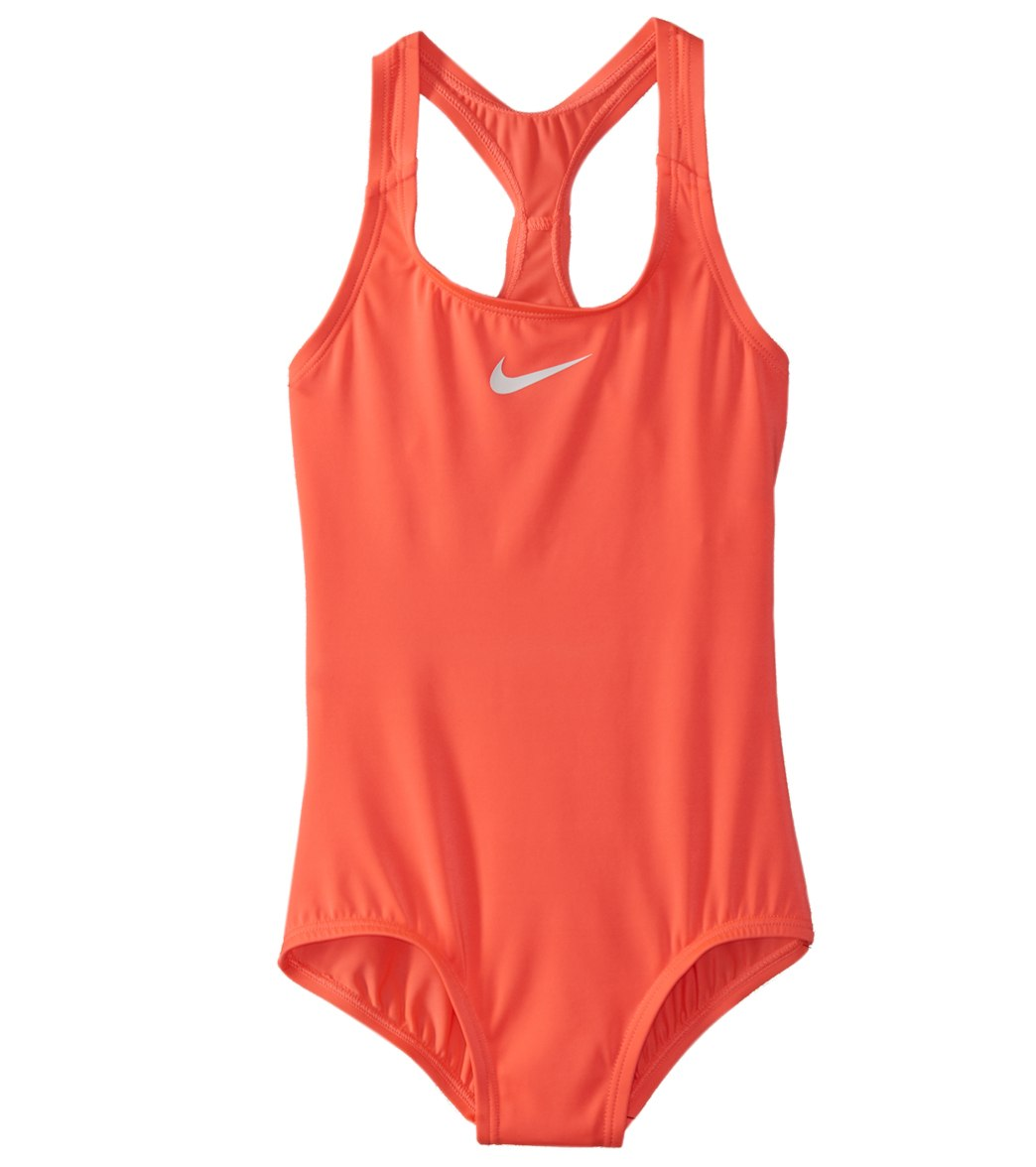 9c7568066b9b Girls  Nike Core Solid Racerback One Piece Swimsuit (Big Kid) at  SwimOutlet.com