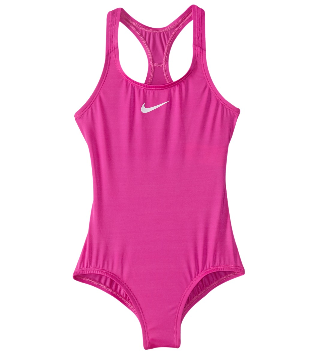 a7a3b10051 Girls  Nike Core Solid Racerback One Piece Swimsuit (Big Kid)