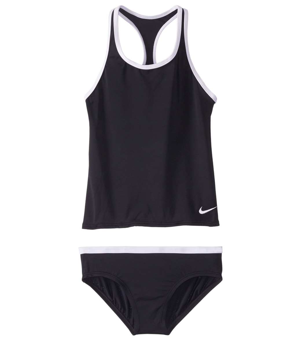 8391a15696600 Girls' Nike Core Solid Racerback Two Piece Tankini Set (Big Kid) at  SwimOutlet.com