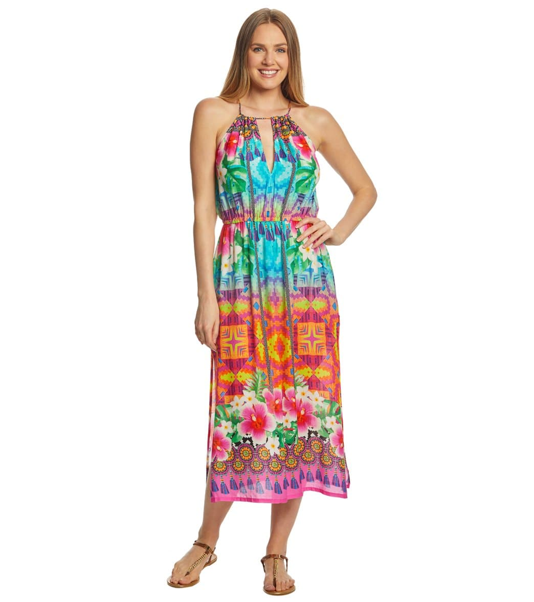588a107aee9a Nanette Lepore Playa Nayarit Midi Dress at SwimOutlet.com - Free Shipping