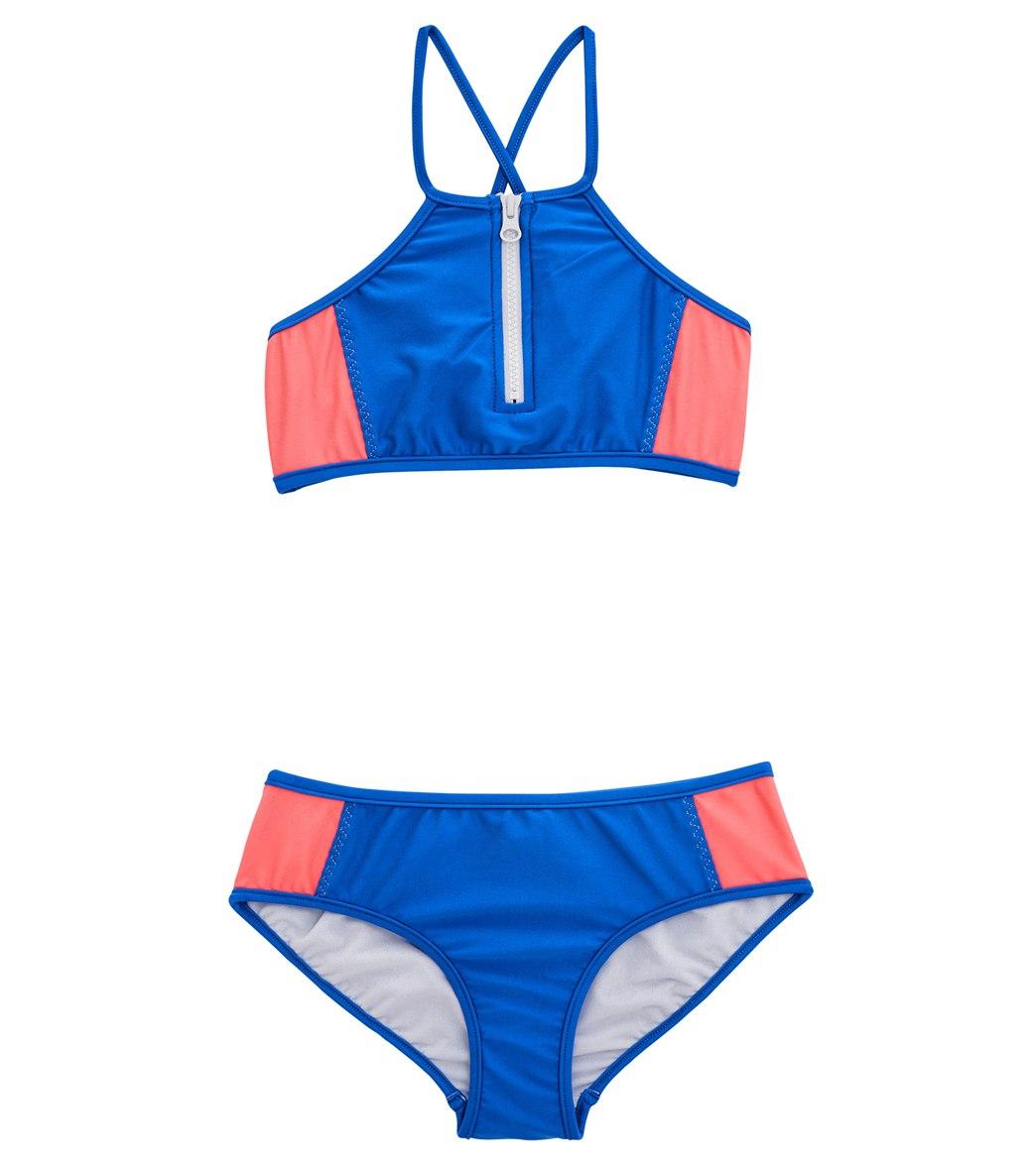 01c412eddccc8 Seafolly Girls' Summer Essentials Colour Blocked Tankini Set (Big Kid) at  SwimOutlet.com