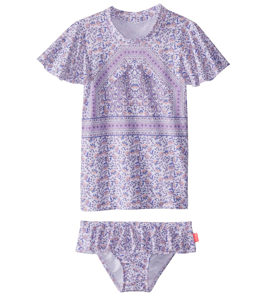 c1ffd368cc Seafolly Girls Girls' Peacock Paisley Rashie Set (Baby, Toddler, Little  Kid) at SwimOutlet.com - Free Shipping