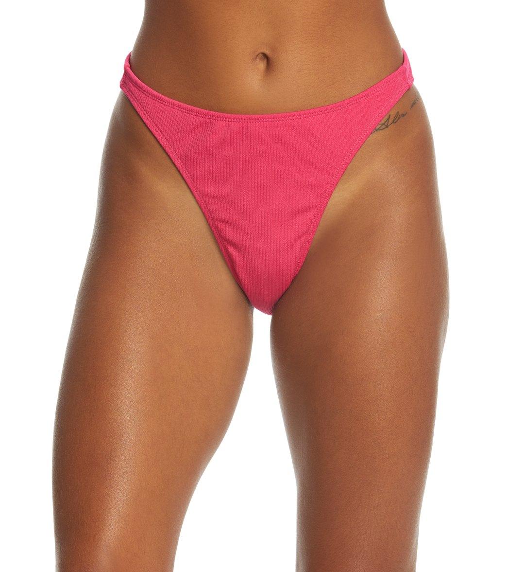 aa221bffb55d7 Motel Valoria Ribbed High Waist Bikini Bottom at SwimOutlet.com
