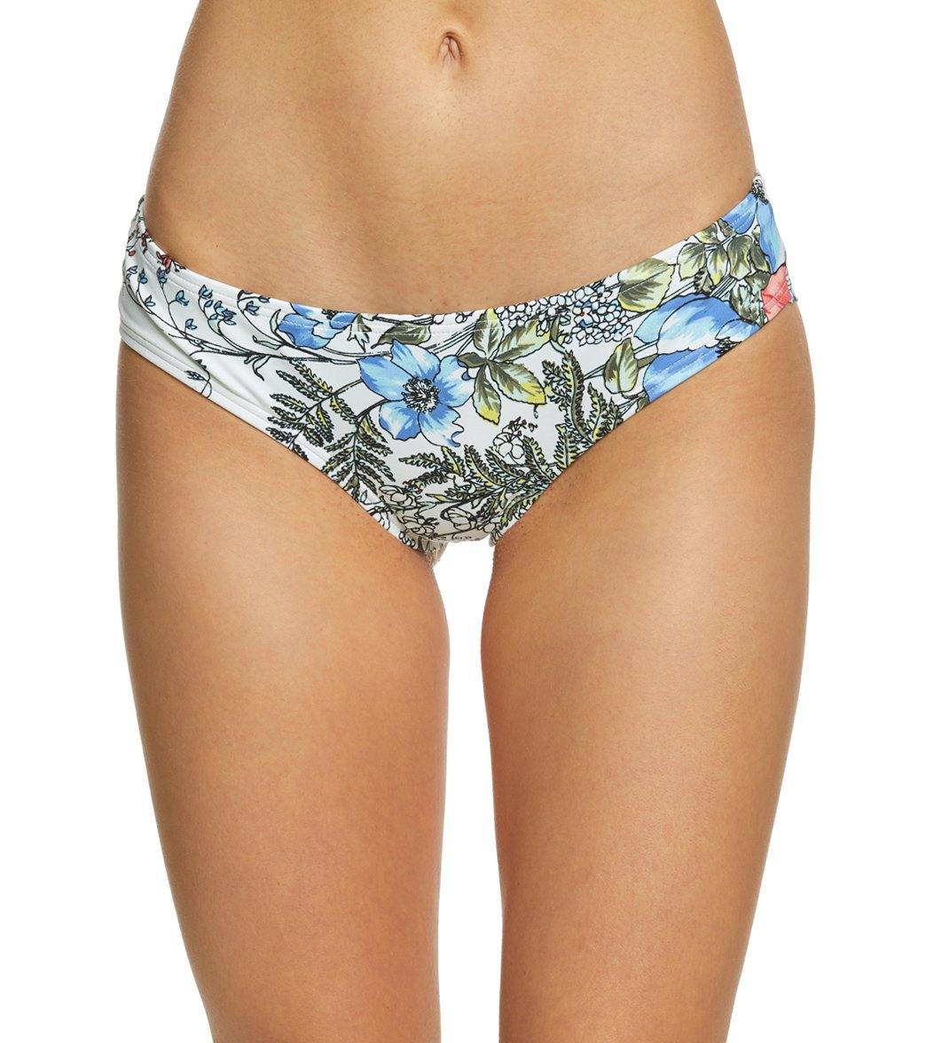 Vince Camuto Women One-Piece Swimsuit Shirred Smooth Cheeky Bikini Bottoms