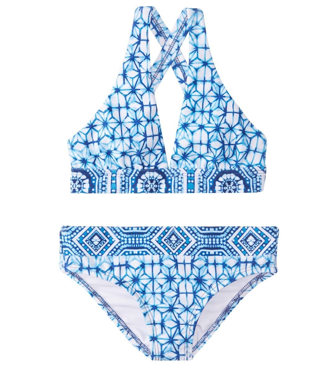 4a579ae9f8c Next Girls' Spice Market Wide Band Halter Two Piece BikiniSet (Big Kid) at  SwimOutlet.com - Free Shipping