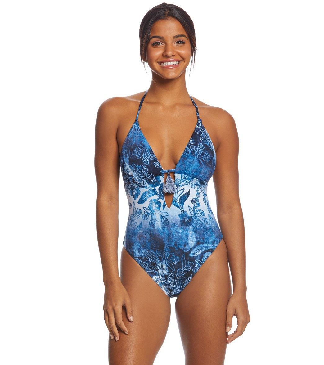 6cd65da2e3f Bikini Lab Indigo Your Own Way High Leg One Piece Swimsuit at  SwimOutlet.com - Free Shipping