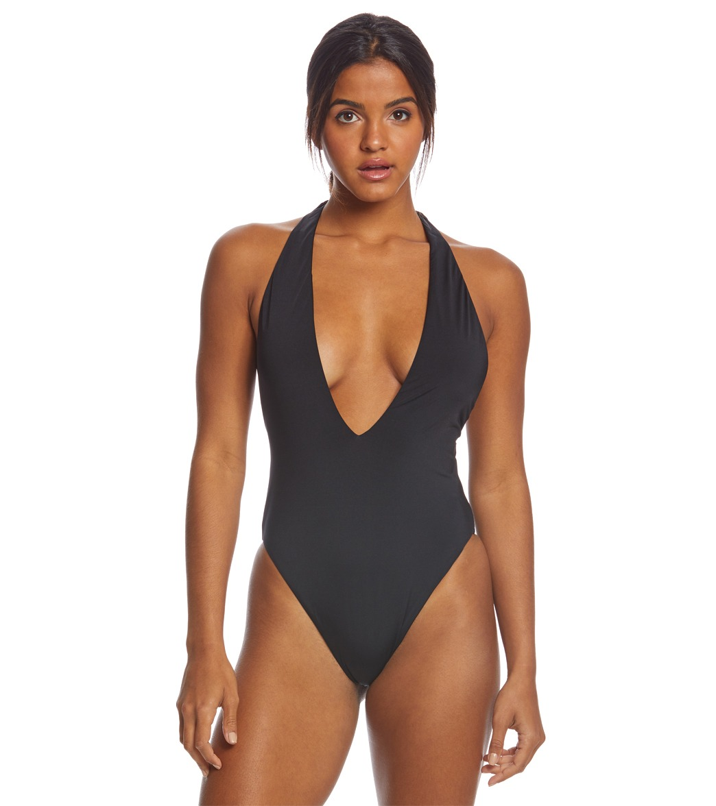 0616f36c552 Bikini Lab Solid Racerback One Piece Swimsuit at SwimOutlet.com - Free  Shipping