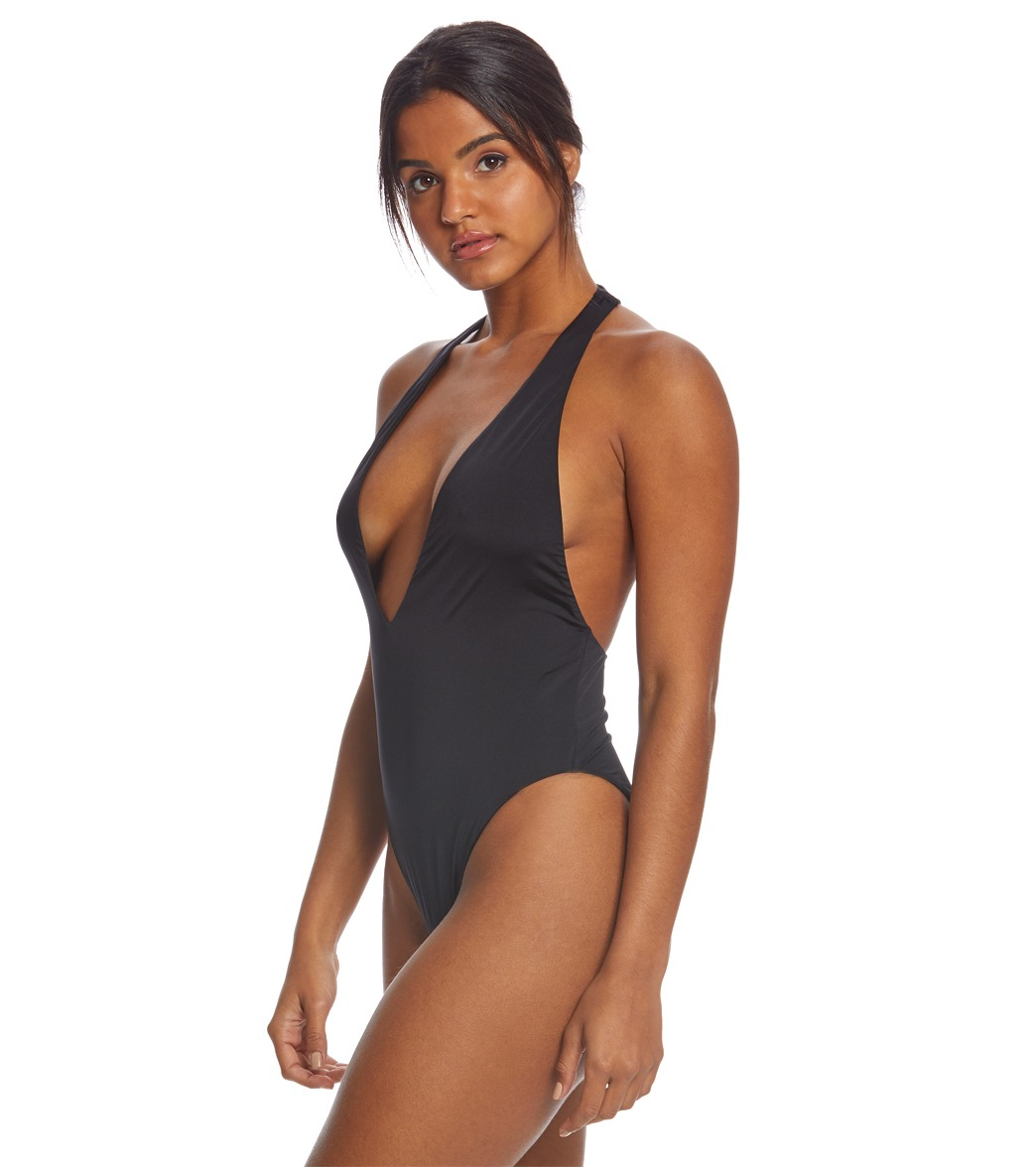 aa98c79b7f7 Bikini Lab Solid Racerback One Piece Swimsuit at SwimOutlet.com ...