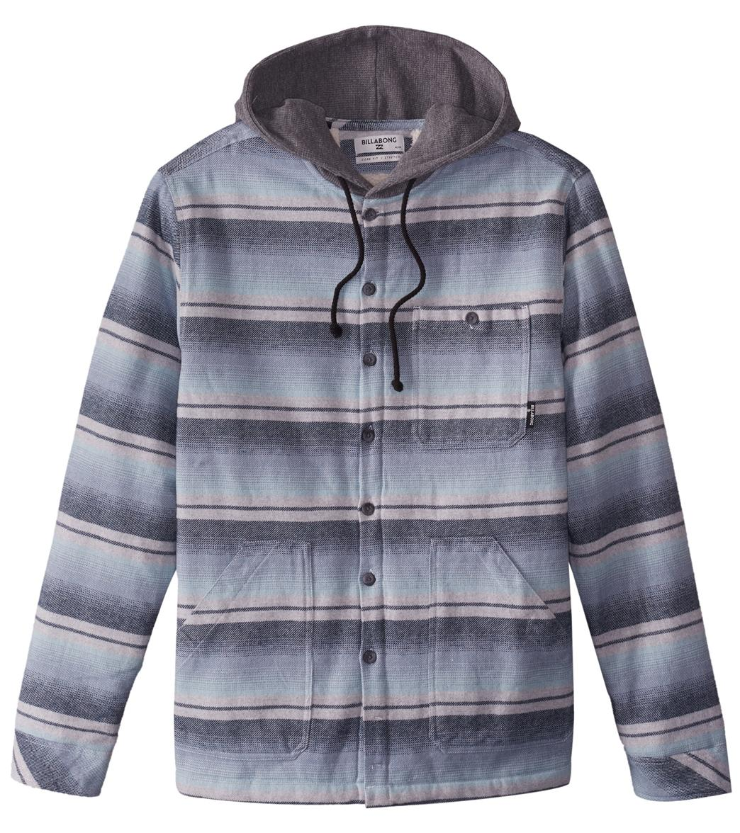 Billabong Men s Baja Sherpa Lined Flannel Shirt at SwimOutlet.com - Free  Shipping 20be1350d4d
