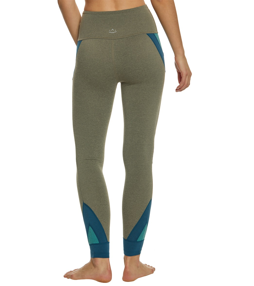 0dc047c02b Beyond Yoga Block And Key High Waisted Midi Yoga Leggings at ...
