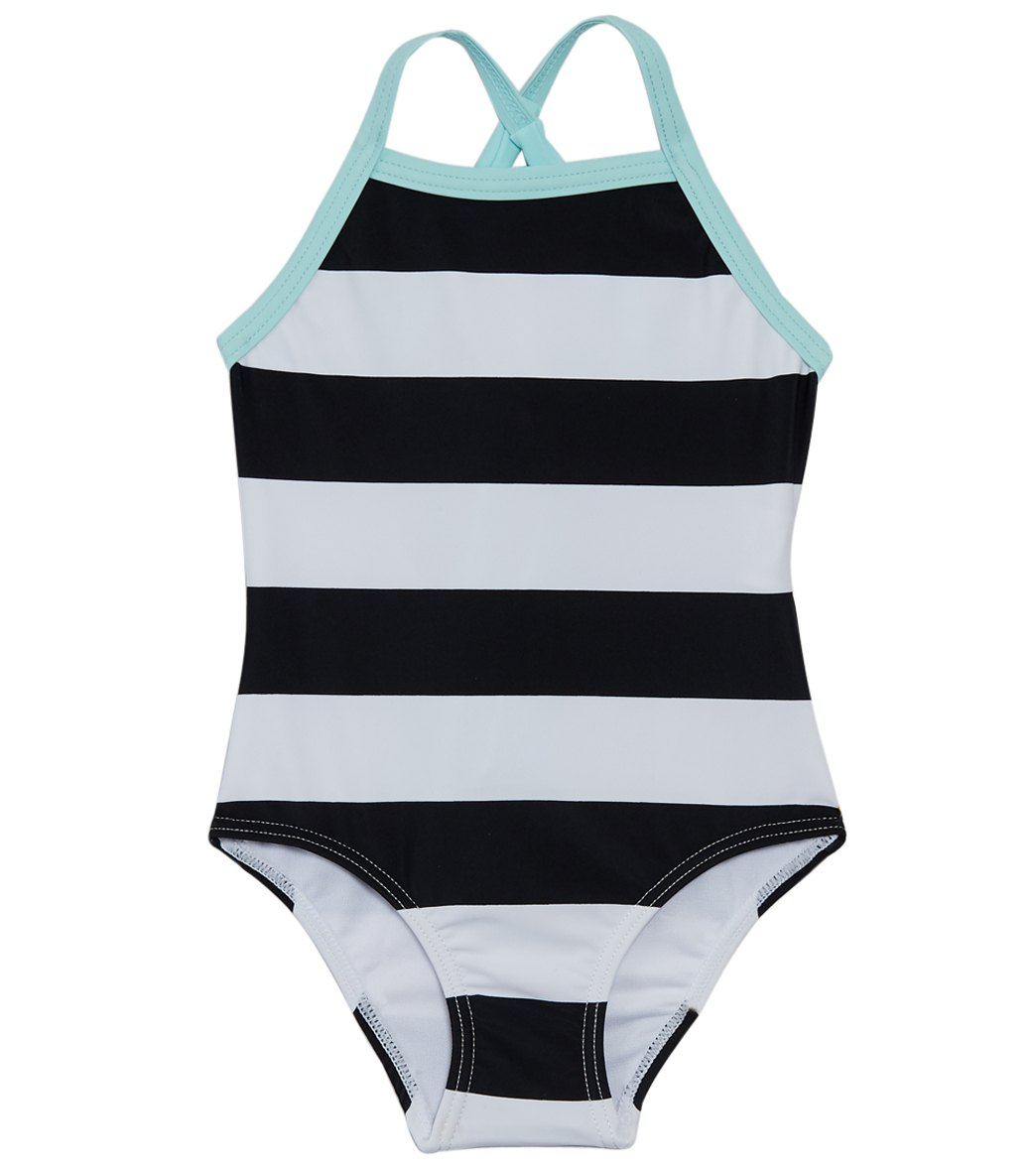 7dccb3ed9ab7 Snapper Rock Girls  Cross Tie One Piece Swimsuit (Toddler