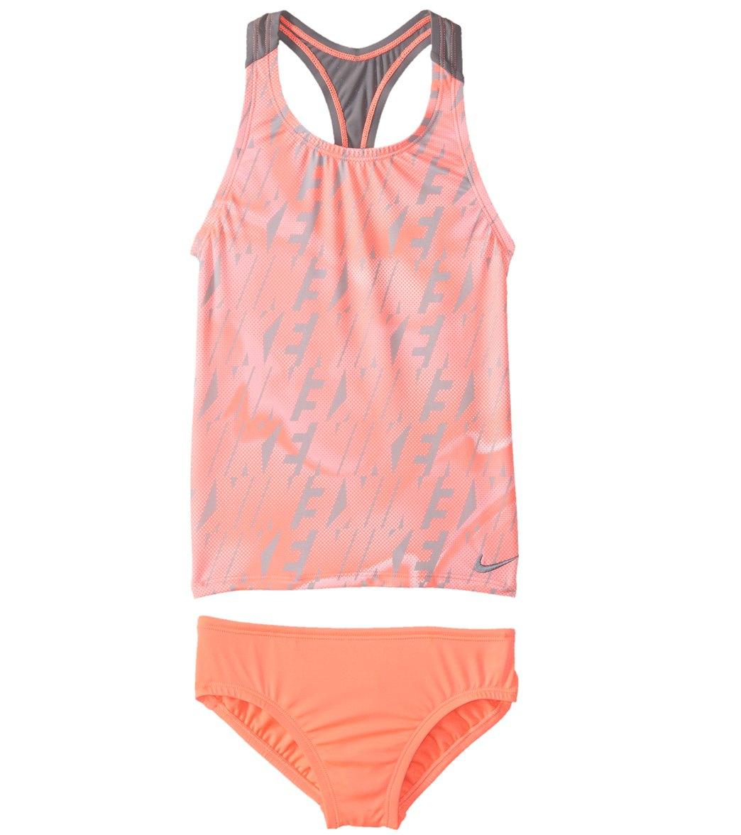 abd9c0fd3efcd Nike Girls' Racerback Sport Tankini Set (Big Kid) at SwimOutlet.com