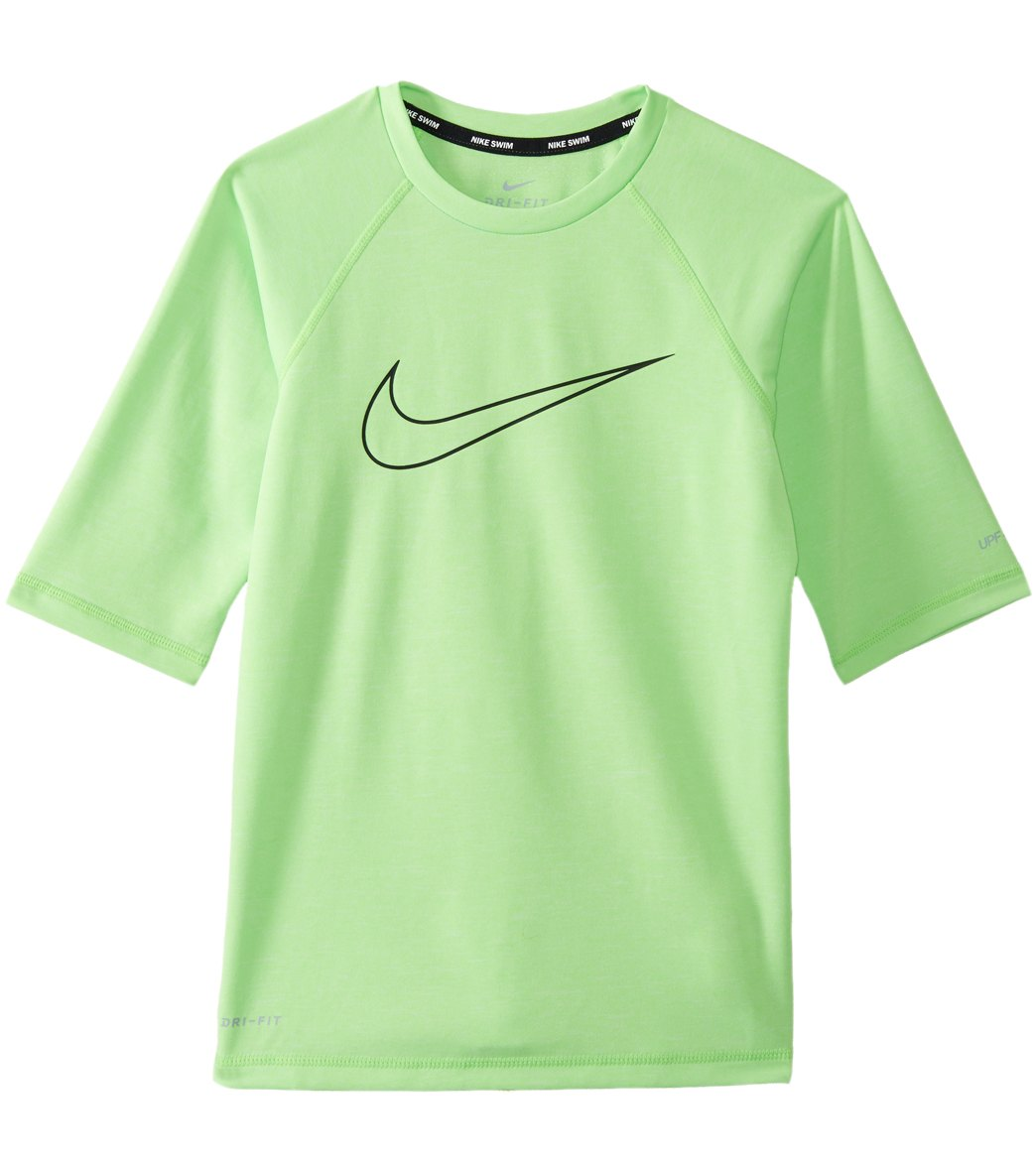 02f3d6a61 Nike Boys' Half Sleeve Hydroguard with Swoosh (Big Kid) at SwimOutlet.com