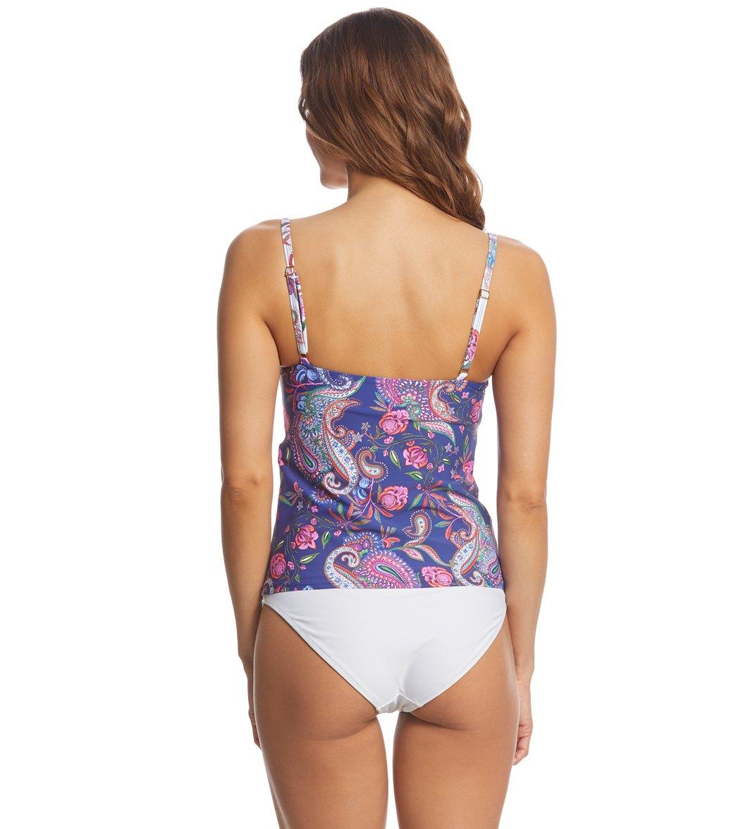 La Blanca Scarf Gypsy Lingerie Tankini Top at SwimOutlet.com - Free ... 73e95d237