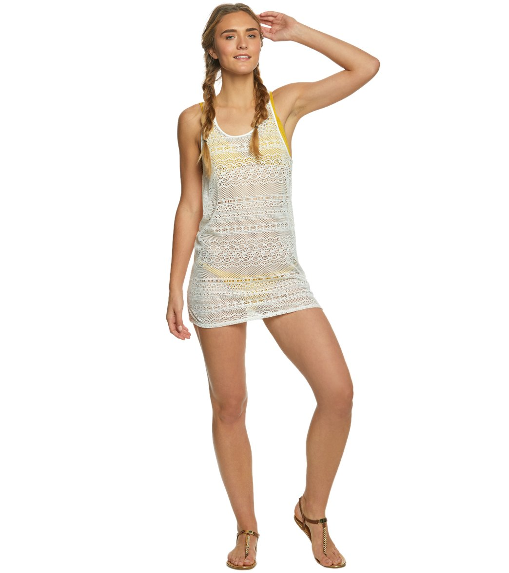 0de705dc5f Roxy Tank Crochet Cover Up Dress at SwimOutlet.com