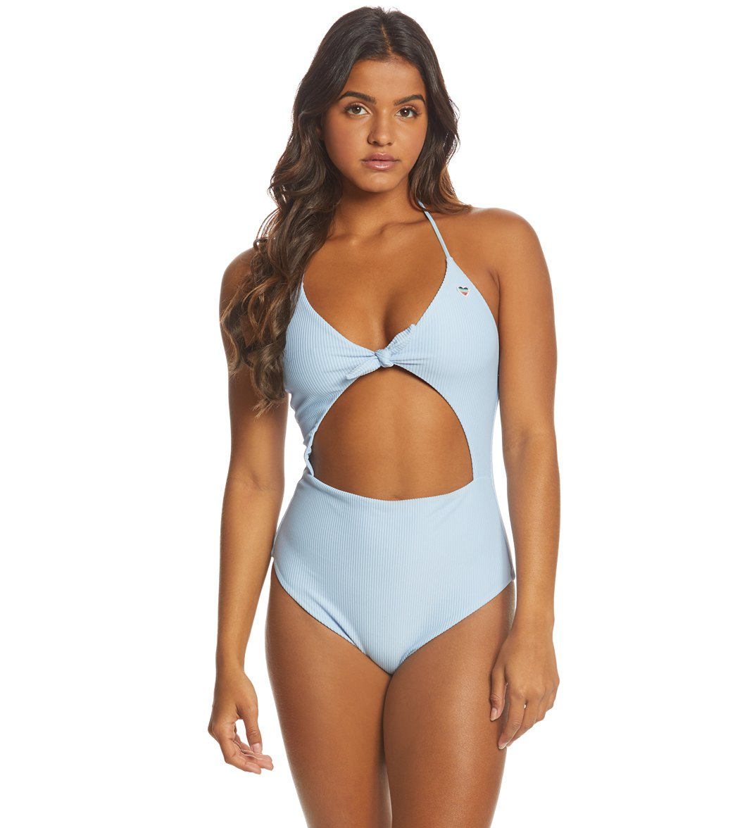 b7eed51c133 Spiritual Gangster Go With The Flow Halter One Piece Swimsuit at  SwimOutlet.com - Free Shipping
