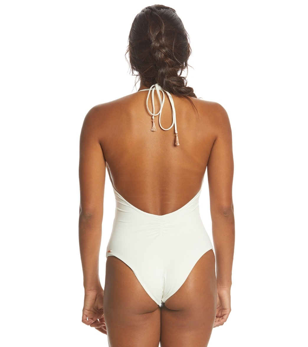 3e0c2abef8948 Spiritual Gangster Good Vibes Retreat Halter One Piece Swimsuit at ...
