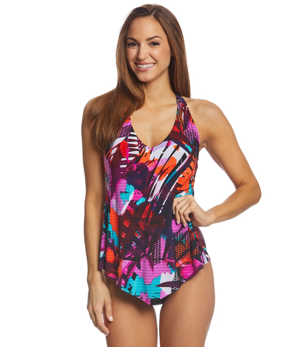 293b1cf763176 Magicsuit by Miraclesuit Cypress Taylor Tankini Top at SwimOutlet.com -  Free Shipping