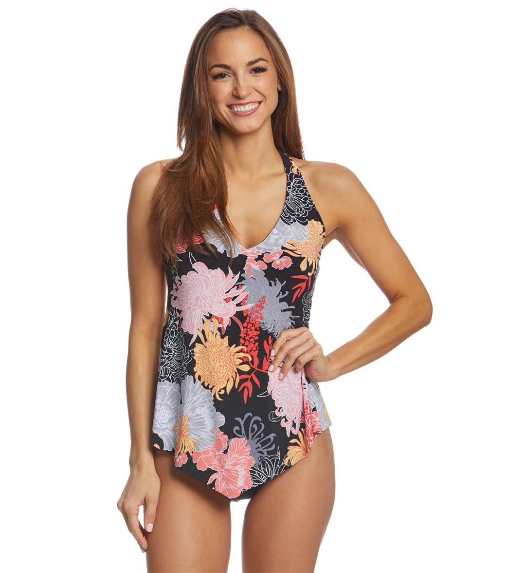 2e28d74aded36 Magicsuit by Miraclesuit Lotus Blossom Taylor Tankini Top at ...
