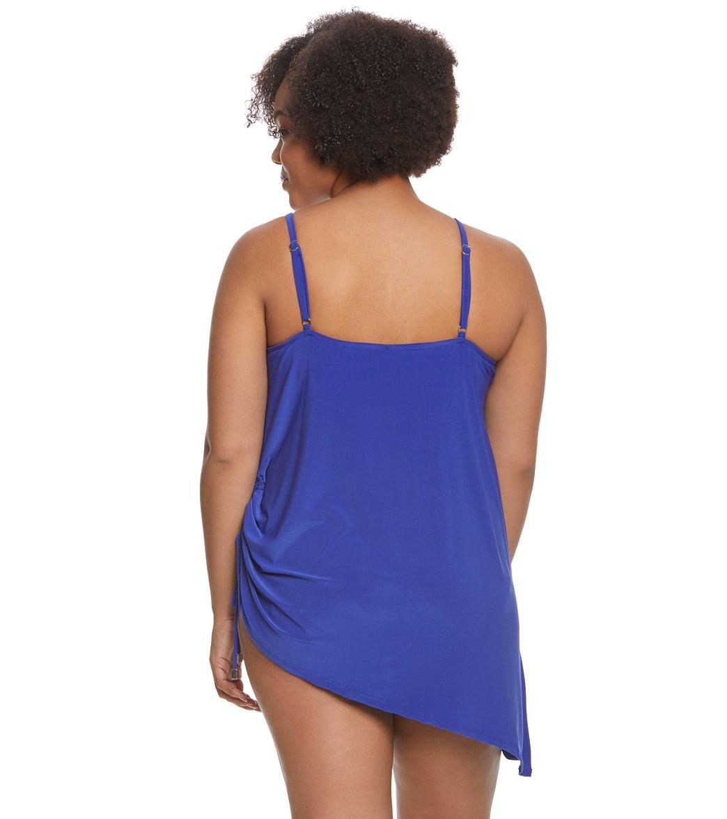 2247685930b63 Magicsuit by Miraclesuit Plus Size Brynn Swimdress at SwimOutlet.com ...